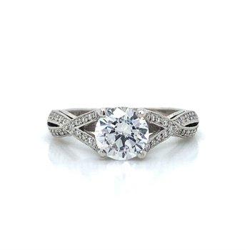 Platinum Tacori Crossover Ring