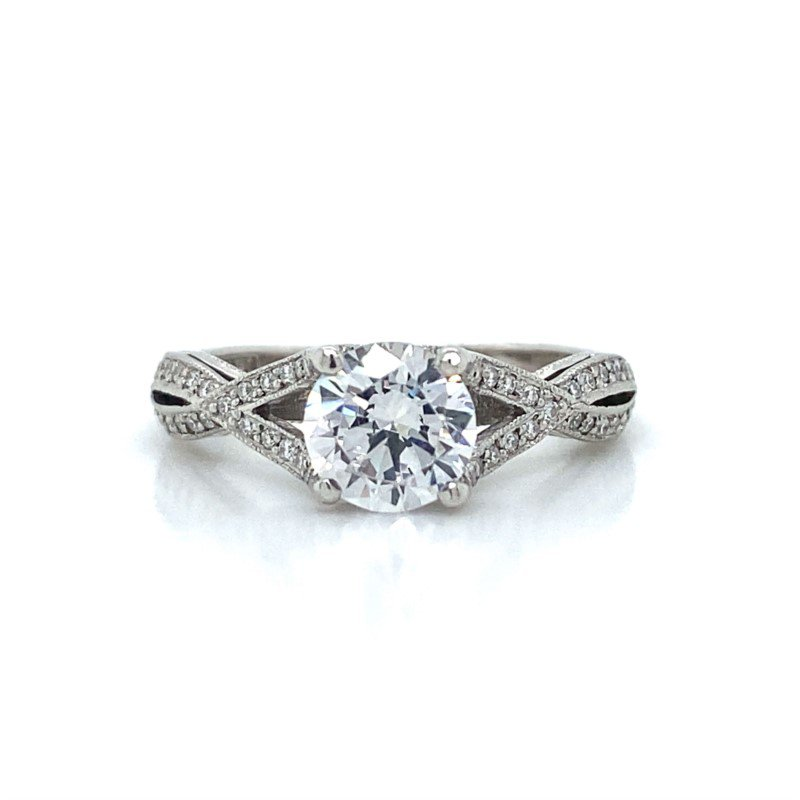 Robert Palma Designs Platinum Tacori Crossover Ring