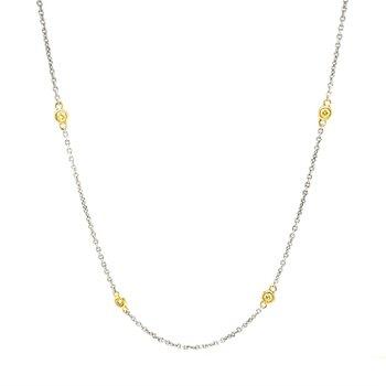 18K Yellow Diamond Necklace