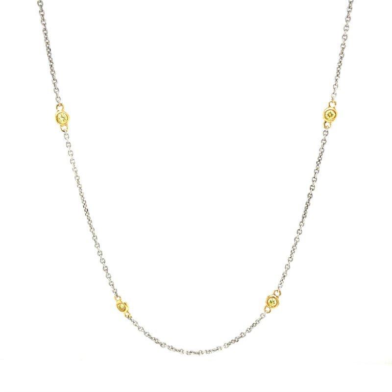 Robert Palma Designs 18K Yellow Diamond Necklace