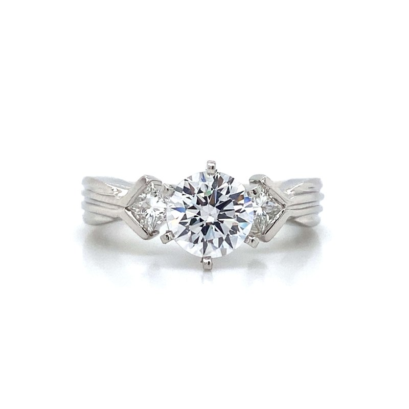 Robert Palma Designs Platinum Three Stone Engagement Ring