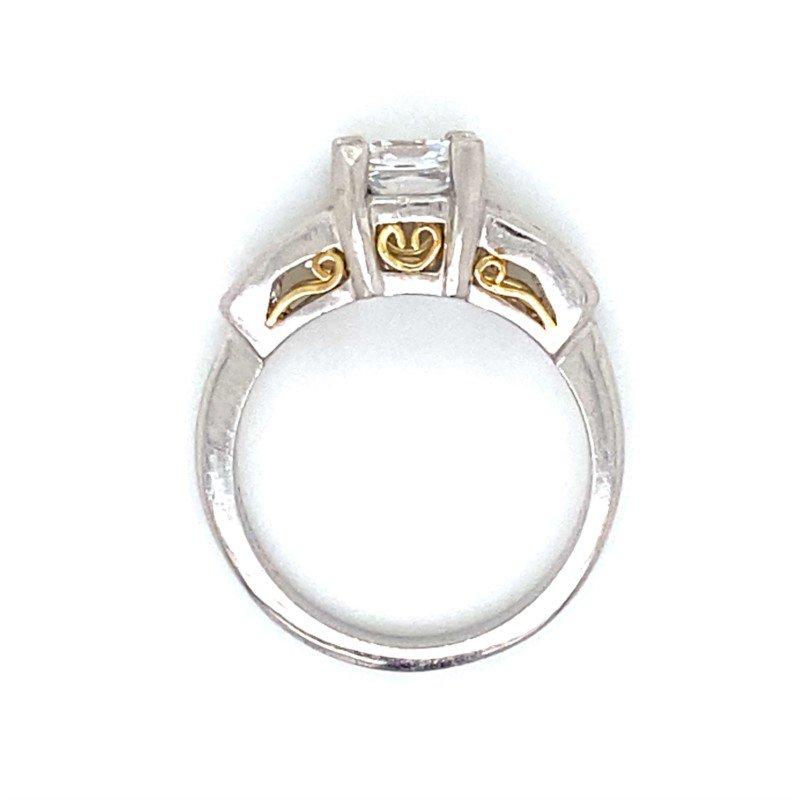Robert Palma Designs Platinum Channel Set Ring
