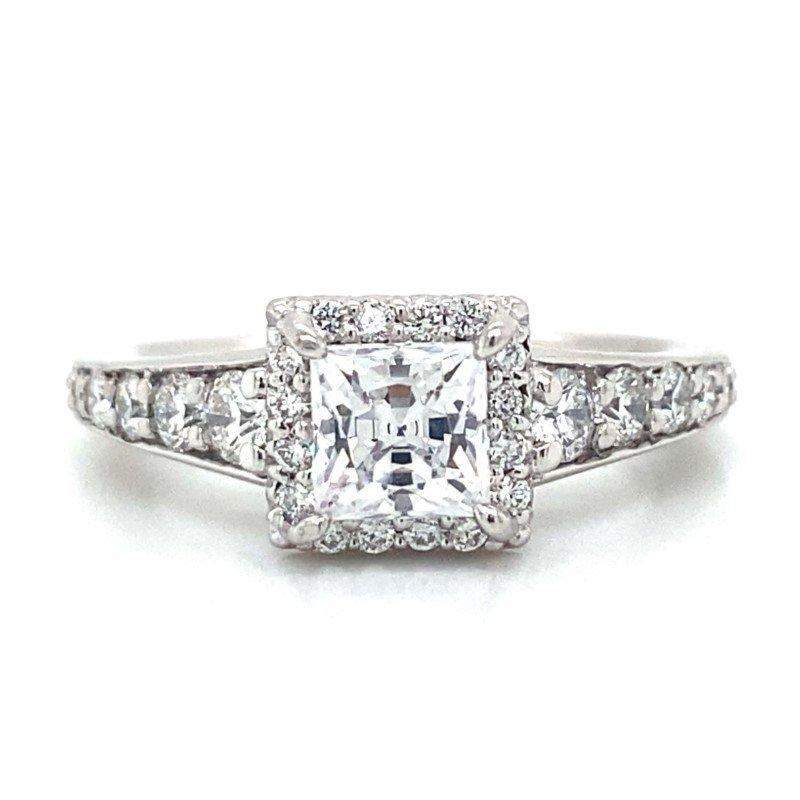 Ritani 18k White Gold Halo Ritani Ring