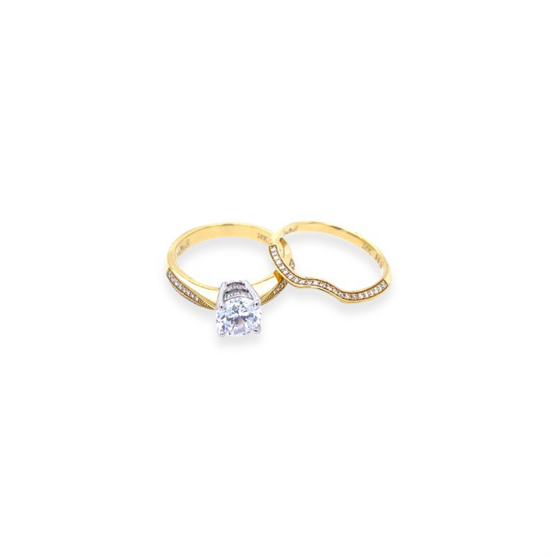 Robert Palma Designs 18K Yellow Gold Diamond Wedding Set