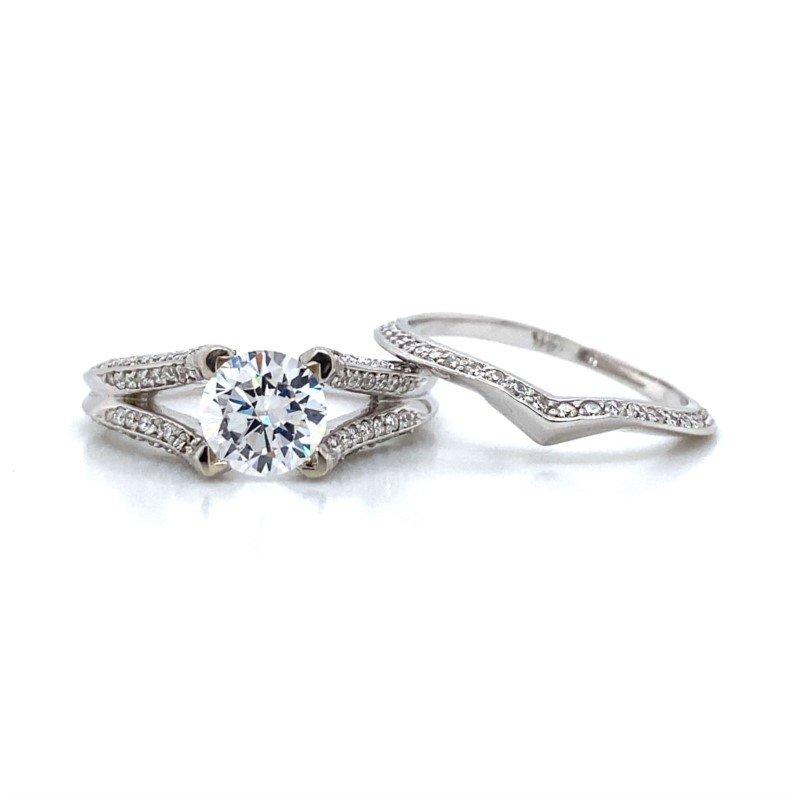 Robert Palma Designs 14k White Gold Bridal Set