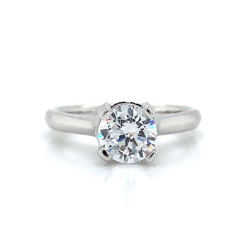 18k White Gold Solitaire Ring