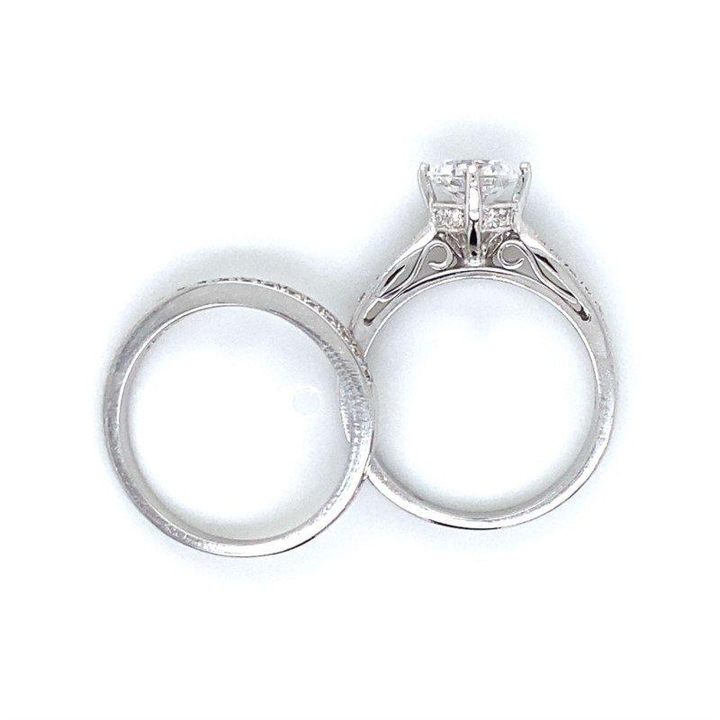 Robert Palma Designs 18 White Gold Diamond Wedding Set
