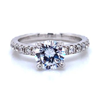 18k White Gold Eternity Wedding Ring
