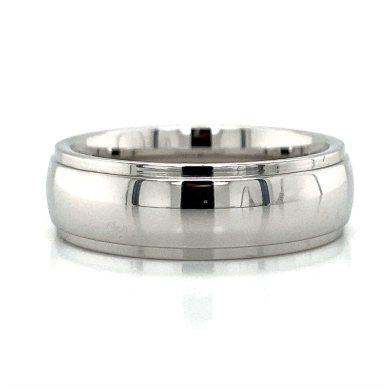 Benchmark Rings Cobalt Chome & Tungsten Band