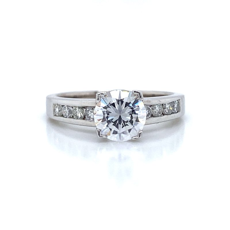 Robert Palma Designs Platinum Channel Set Engagement Ring