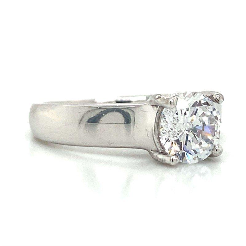 Ritani Palladium Solitaire Style Ring