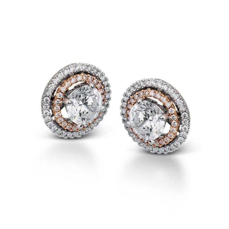 Simon G 18K White and Rose Gold Earring Jackets