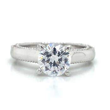 18k White Gold Miligrain Verragio Ring