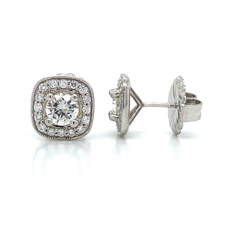 Robert Palma Designs Diamond Halo Earrings