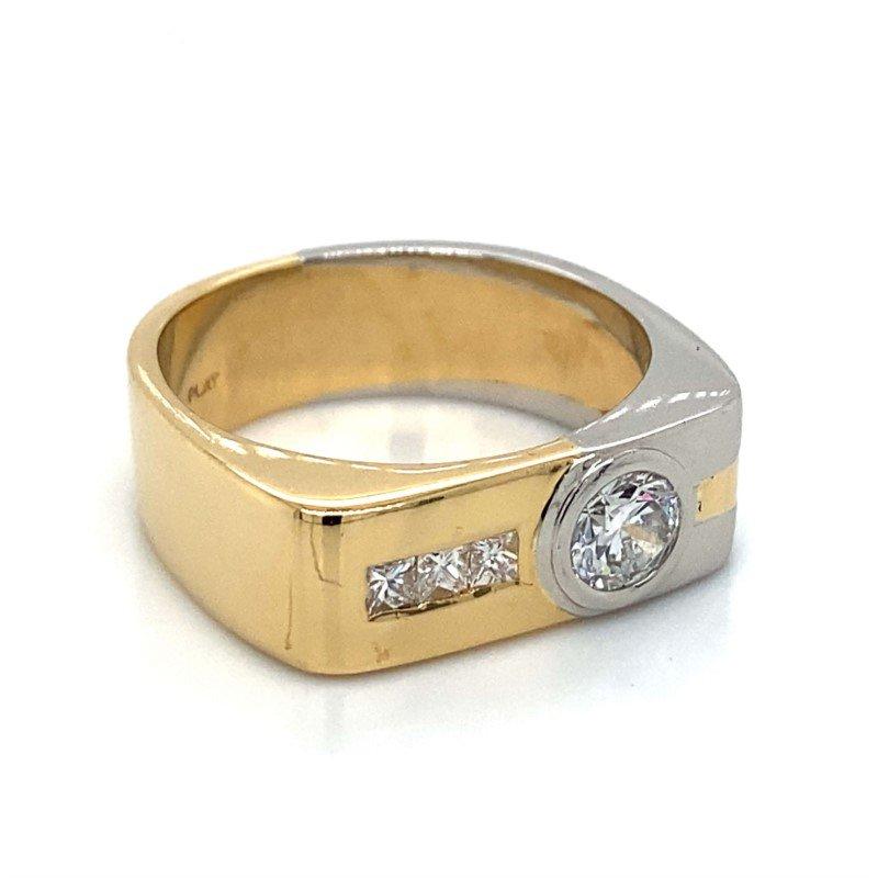 Robert Palma Designs 18k Yellow Gold & Platinum Diamond Band