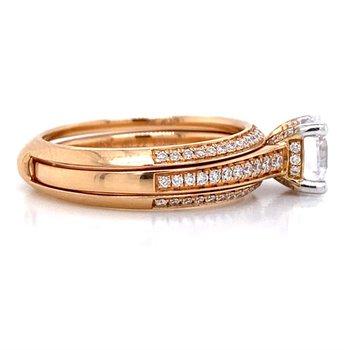 18k Rose Gold Engagement Set