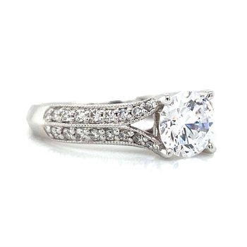 14k White Gold Open Shank Ritani Ring