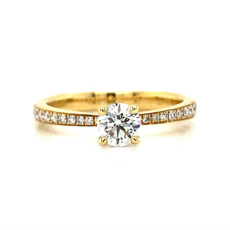 Robert Palma Designs Ladies 18k Yellow Gold Hearts On Fire Diamond Ring