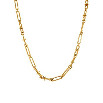18k Yellow Gold Open Link Chain