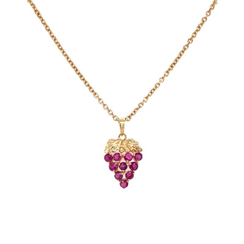 Robert Palma Designs 14k Yellow Gold Strawberry Pendant