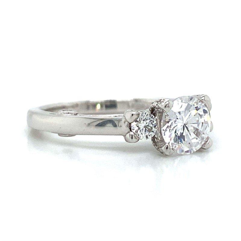 Verragio 18k White Gold Three Stone Verragio Ring