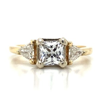 14k Yellow Gold Three Stone Ring