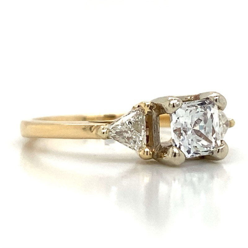 Robert Palma Designs 14k Yellow Gold Three Stone Ring