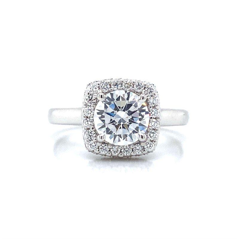 Verragio 14k White Gold Verragio Halo Ring