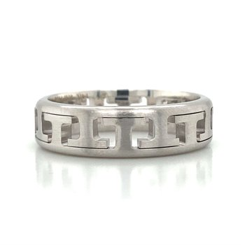 14k White Gold Movable Band