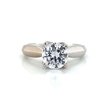 18k White Gold Verragio Solitaire Ring