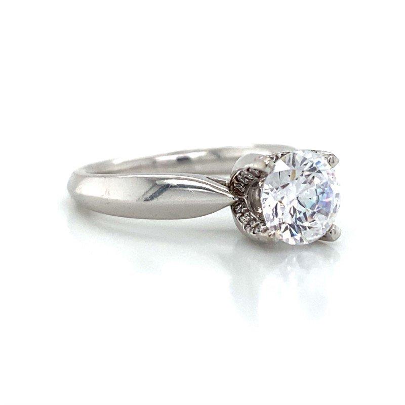 Verragio 18k White Gold Verragio Solitaire Ring
