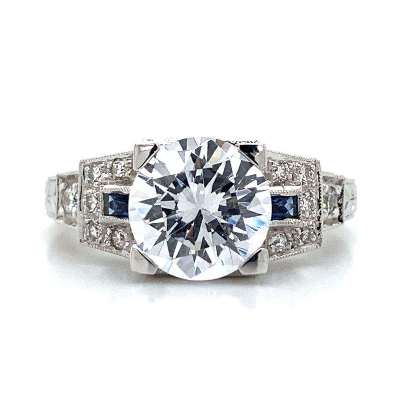 Robert Palma Designs 14k White Gold Art Deco Ring