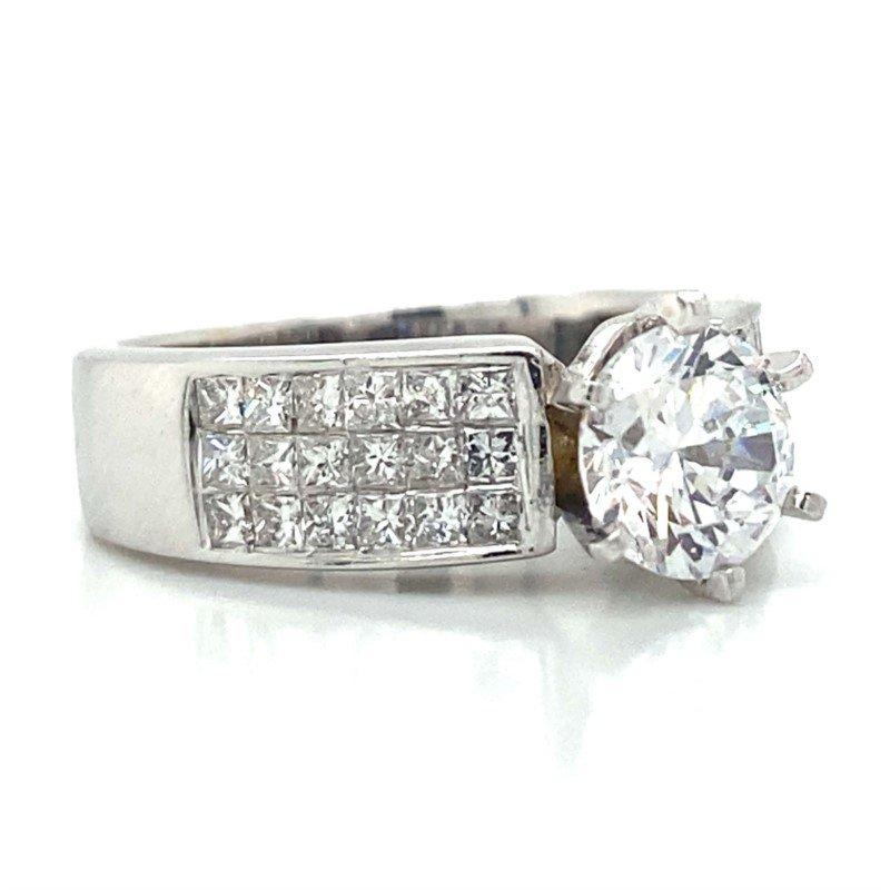 Robert Palma Designs 14k White Gold Invisible Set Ring