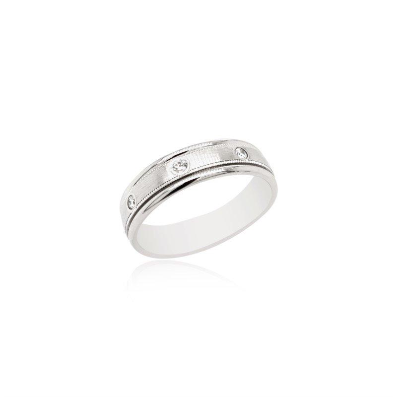 Benchmark Rings 14k White Gold Diamond Band
