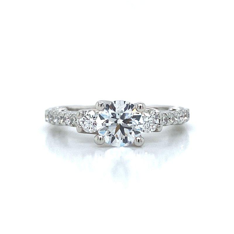 Verragio 18k White Gold Three Stone Ring
