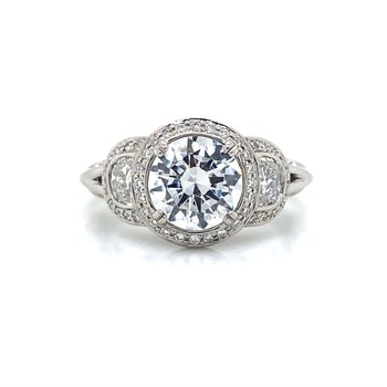 Palladium Half Moon Ring