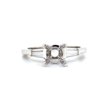 Platinum Three-Stone Diamond Ring