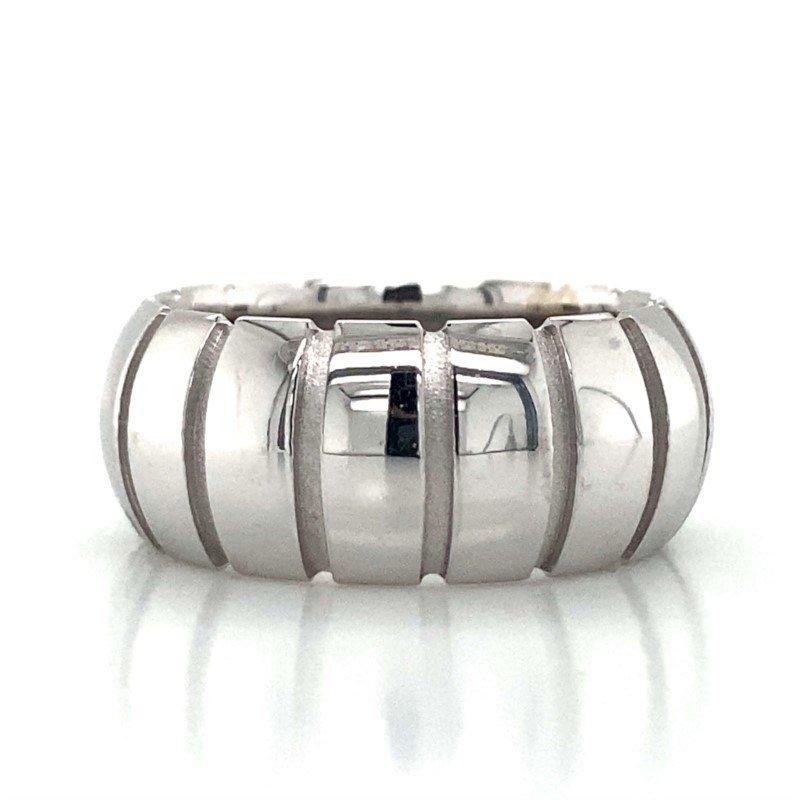 Robert Palma Designs 14k White Gold Barrel Band
