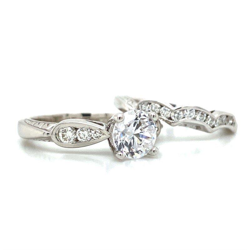Robert Palma Designs 14k White Gold Wedding Set