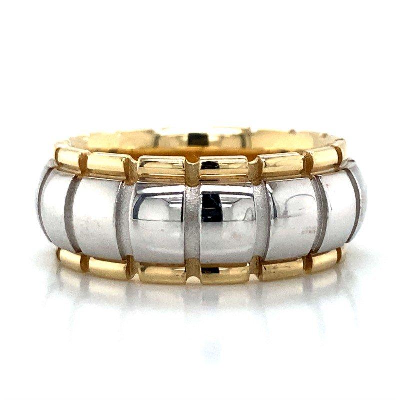 Robert Palma Designs 14k White & Yellow Gold Barrel Band