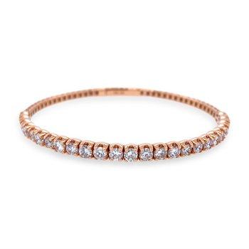 14k Rose Gold Flexible Diamond Bracelet