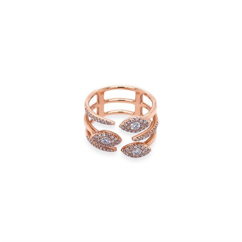 14k Rose Gold Diamond Fashion Ring
