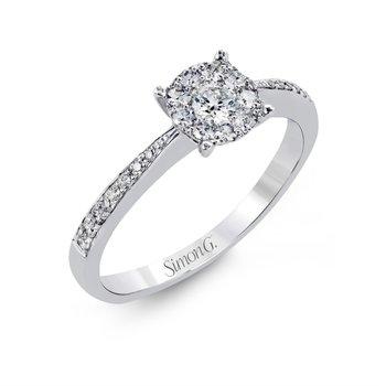 18K White Gold Engagement Rings