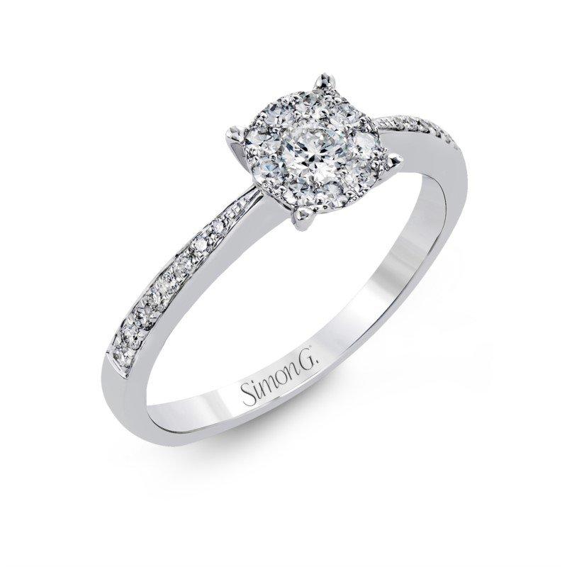 Simon G 18K White Gold Engagement Rings