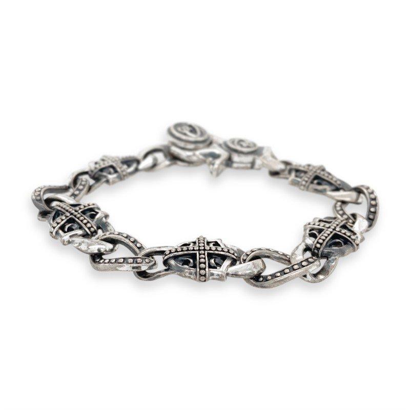 Robert Palma Designs Silver Open Link Cross Bracelet