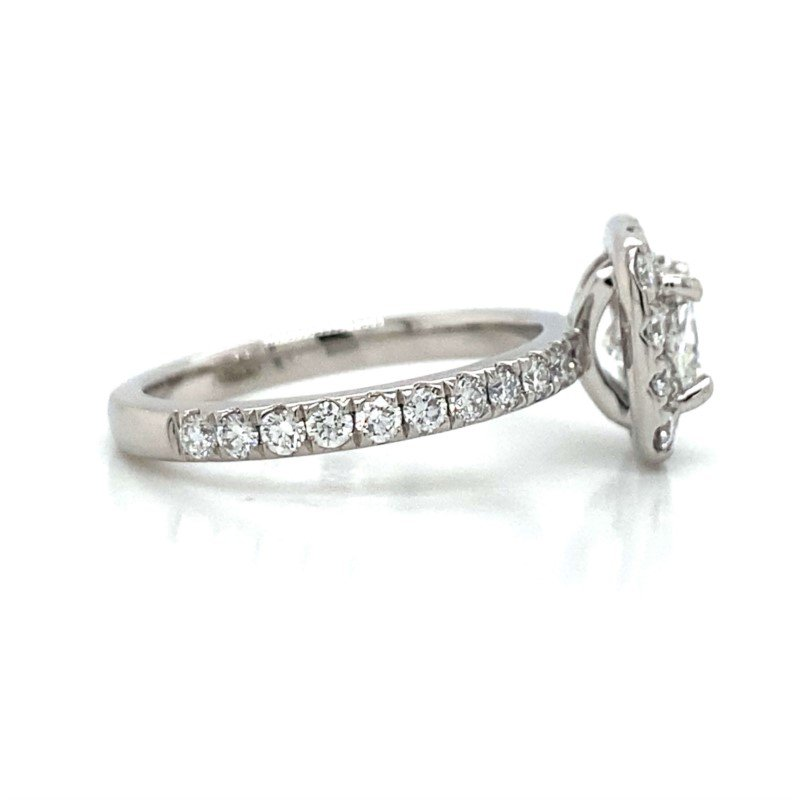 Robert Palma Designs Platinum Diamond Halo Engagement Ring
