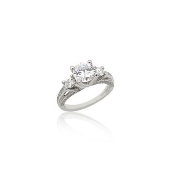 Platinum Verragio Three Stone Ring