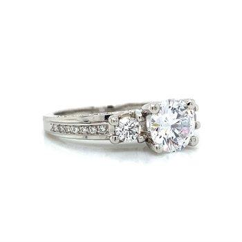 Platinum Verragio Three Stone Ring