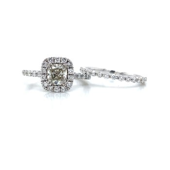 18K Diamond Wedding Set