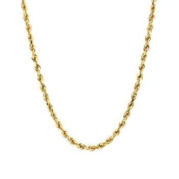 14K Diamond Cut Rope Chain